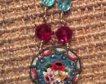 Micro Mosaic Vintage Necklace
