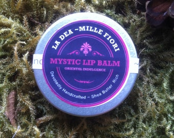 Mystic Lip Balm 10ml- Oriental Indulgence for the lips with Sandalwood, Ylang Ylang, Patchouli Rosewood, Ginger and Cardamon