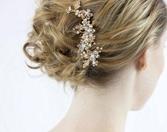 Bridal Hair Comb, Gold Hair Comb, Wedding Hair Comb, wedding accessories, bridal hair pins, wedding hair accessories