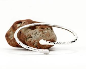 Sterling Silver Bracelet, Hammered, Textured, Silver Cuff, Silver Bangle, Silver Cuff Bracelet, Solid 925 Sterling Silver