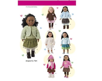 "Simplicity Pattern 1515 - 18"" Doll Wardrobe"