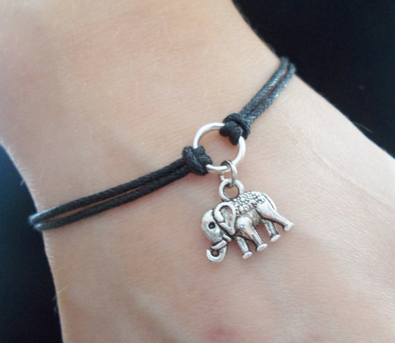 silver hzman style resizable com vintage amazon my bracelet alloy plated lucky dp elephant