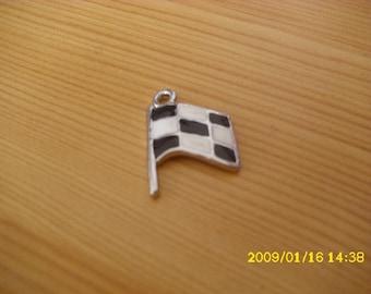 black and white flag pendant