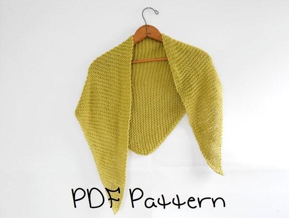 Shawl Knitting Pattern Easy Triangle Shawl Pattern Beginner