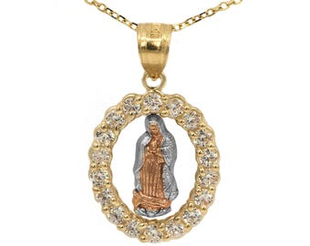 Virgin mary pendant etsy quick view aloadofball Choice Image