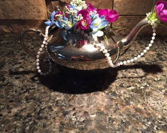 Teapot with Flowers Centerpiece