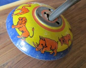 Antique Tin Circus Animal Top