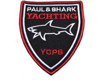 Free shipping  Paul & Shark Tag Iron On PATCH 7.5x8.5 cm