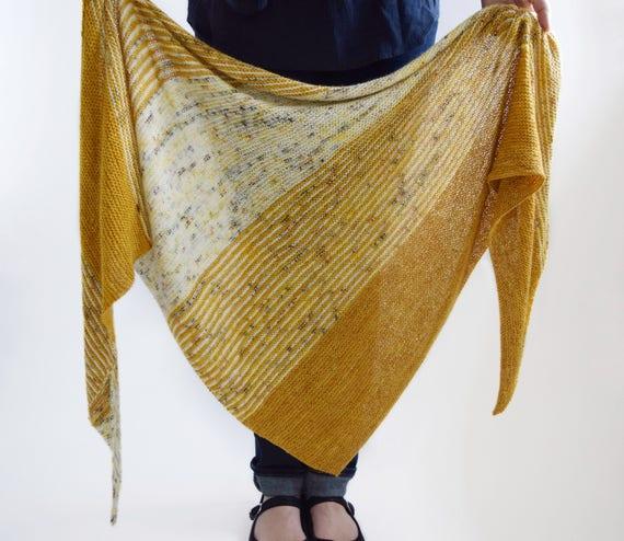 Triangle Shawl Pattern Knitting Pattern Knit Shawl