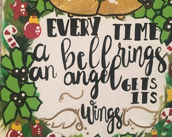 Christmas wreathe and quote