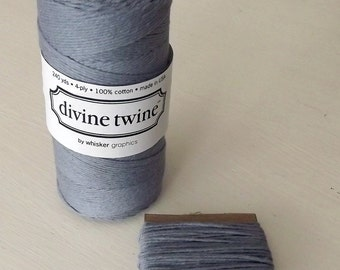 Gray String Solid Divine Twine 10 Yards Cotton
