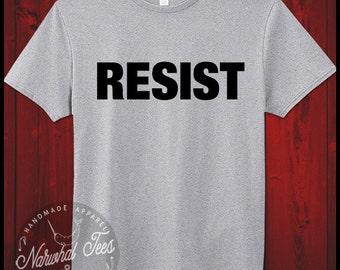 Resist T-Shirt Democrat Anti Trump Liberal Equal Rights Feminism Tee