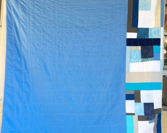 Improv Quilt in Blue and White by The Mountain Thread Company