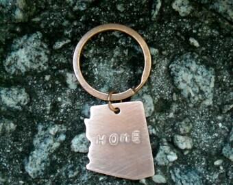 Arizona, Arizona Keychain, Arizona Key Chain, Keychain, Key Chain, Hand Stamped Keychain, Going Away Gift, Car Accessory, Graduation Gift