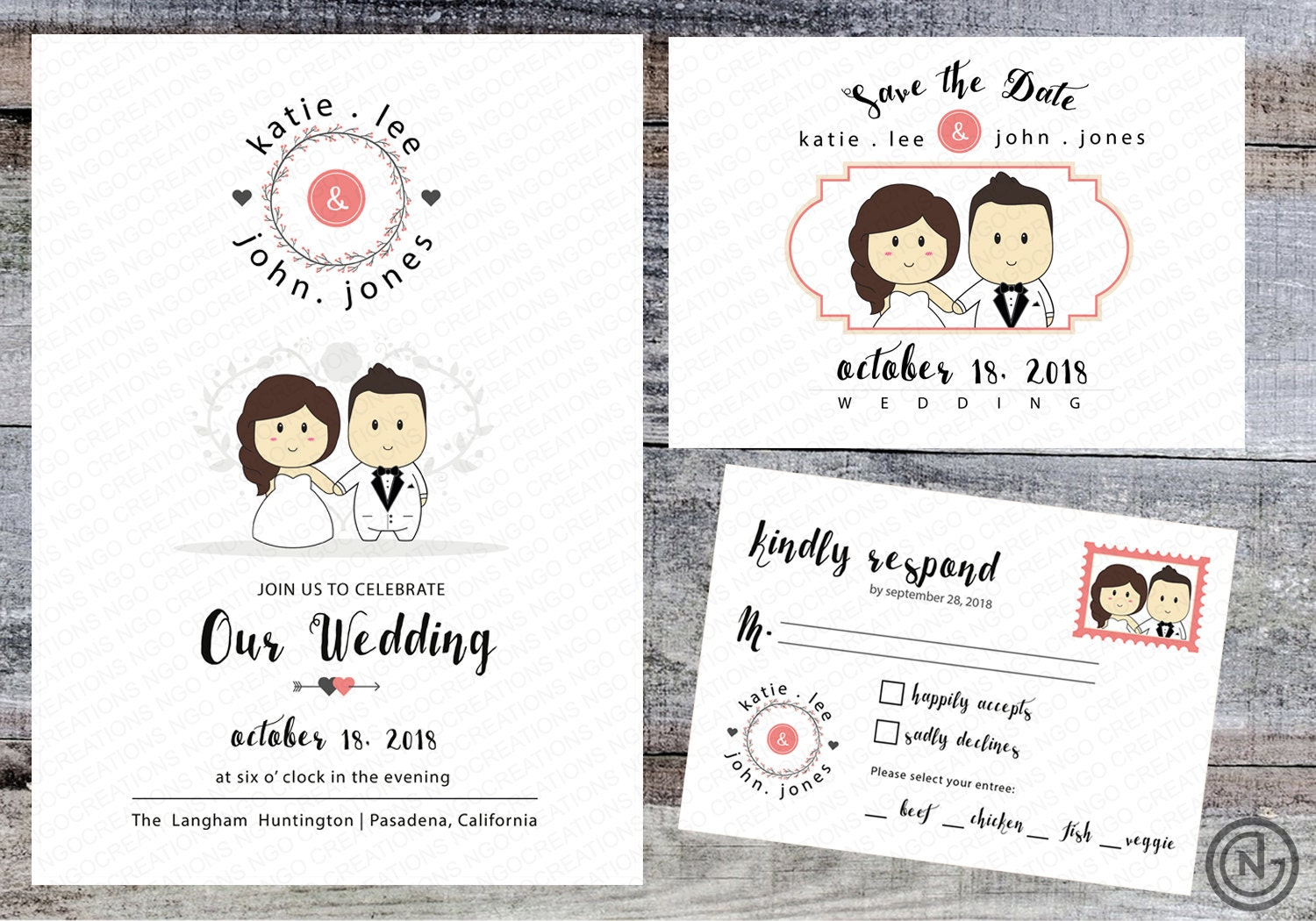 Portrait Wedding Invitation White Printable Invites Rustic