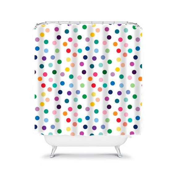 shower curtain spot shower curtain colorful bathroom decor. Black Bedroom Furniture Sets. Home Design Ideas
