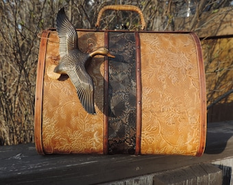Vintage Purse,Upcycled Purse,Birdwatching Bag,Wooden Purse,Wooden Birdwatching Purse,One of a Kind Purse,Field Glasses,Purses and bags