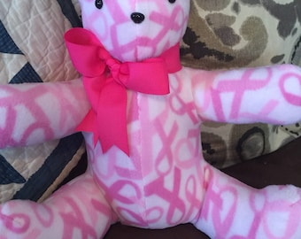 Pink Breast Cancer Awareness Teddy Bear