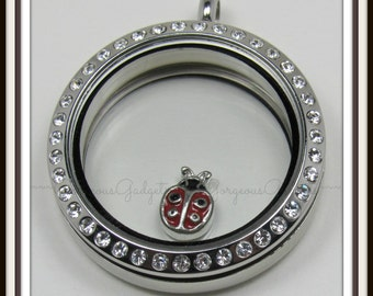 Ladybug Floating Charm for Glass Locket / Floating Locket / Memory Locket Locket