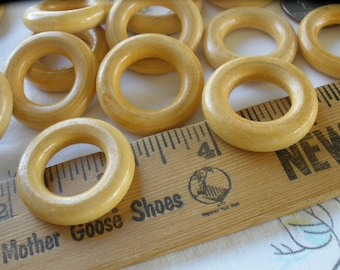 """28MM Wood rings Round 16mm 5/8"""" opening 1 1/8"""" ring 12 pieces purse strap O ring macrame home decor cafe curtain cabone rings"""
