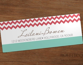 Chevron Style Custom Return Address Labels with Color Options
