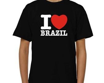 I Love Brazil Children T-Shirt