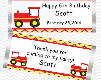 Tractor Red - Personalized Candy Bar Wrapper
