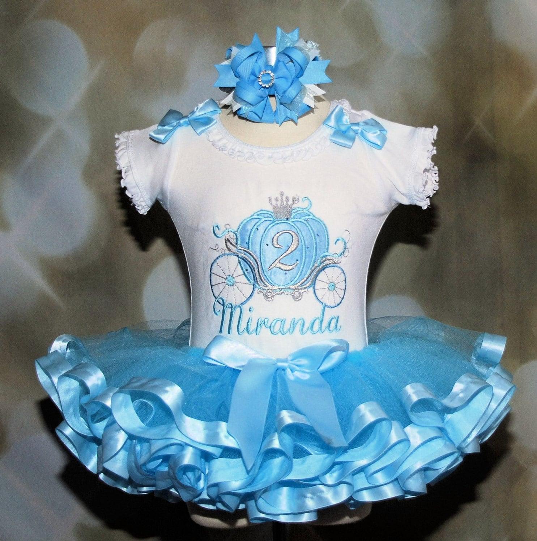 7f56ec489 Cinderella Carriage Princess 2nd Birthday Tutu Outfit