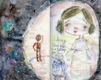 Star Wars journaling  - online watercolor class