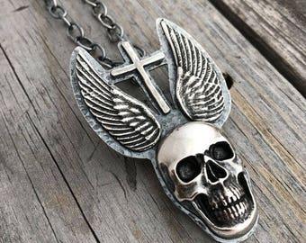 Sterling Silver Skull Necklace Handmade By Joy Kruse Wild Prairie Silver Jewelry