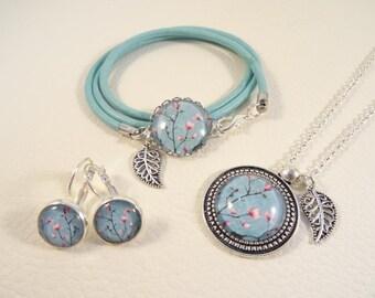 """Jewelry set """"Magnolia Turquoise"""""""