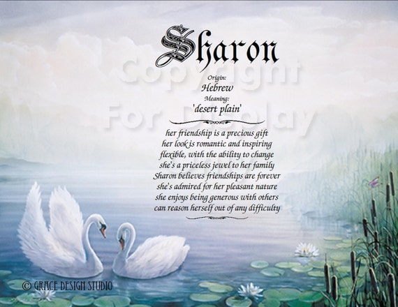 Personalized name meanings print with character traits baby negle Choice Image