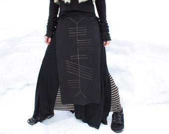 Crone Ogham Stained Panel Skirt Loin Cloth Made to Order M1TbyQqEn