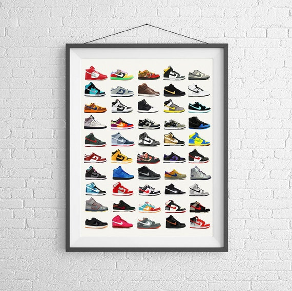 newest collection 4c6ef 57f3c nike poster dunks shoe fashion sneakers