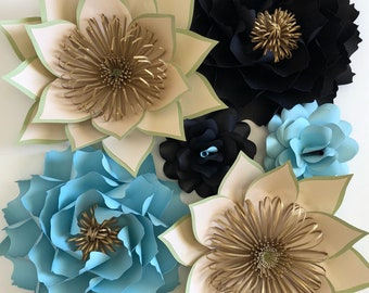 Paper flower backdrop, Nursery paper Flowers, Alice in Wonderland inspired Paper flowers,  flowers for first birthday, Cake smash photo prop