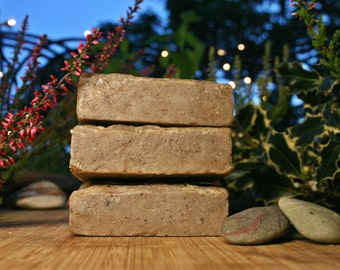 Spicy Earth Soap, Man Soap, Gardener Soap, Gift Soap, Natural Essential Oil Bar, Almond Oil Soap, Made in Ireland, absoapstudio