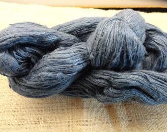 Hand spun hand dyed silk yarn