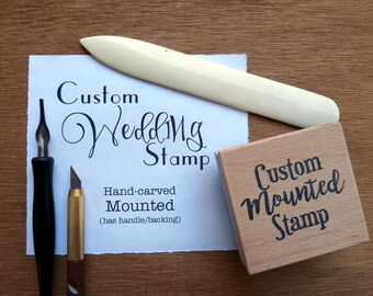 Custom wedding stamp, personalized wedding stamp, custom wedding rubber stamp, custom wedding stamps, bridal stamp, wedding shower stamp