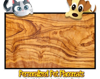 Personalized Pet Placemat - Woodshop Exotic Timber Design