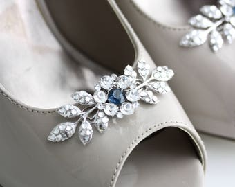 Shoe clips Wedding Shoe Clips Crystal Shoe Clips Custom Color Something Blue Bridal Shoe Clips Leaf Shoe Clips Custom Shoe Clips MACY