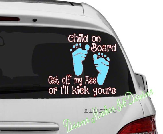 Child on board car decal baby on board decal bumper sticker Getting stickers off glass