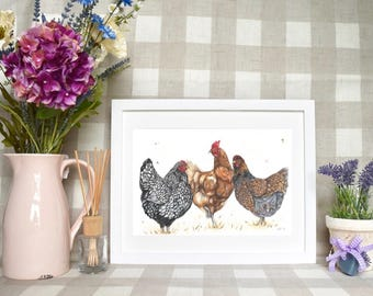 Hen party Limited edition print