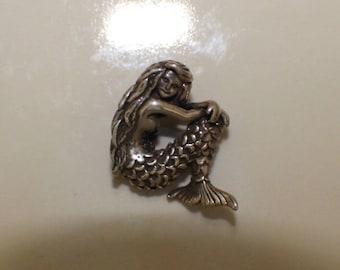 Sterling Silver, Mermaid Charm Pendant, Mermaid Pendant, Mermaid Necklace, Mermaid Jewelry