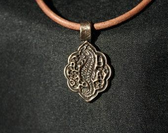Seahorse -- Small Bronze Pendant
