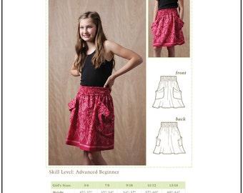Pixie Faire Bonjour Teaspoon Chloe Skirt Pattern for Girls- PDF