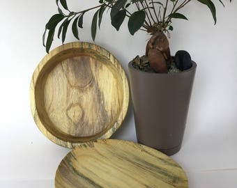 Ketucky YELLOW wood lathe turned BOWL and PLATE