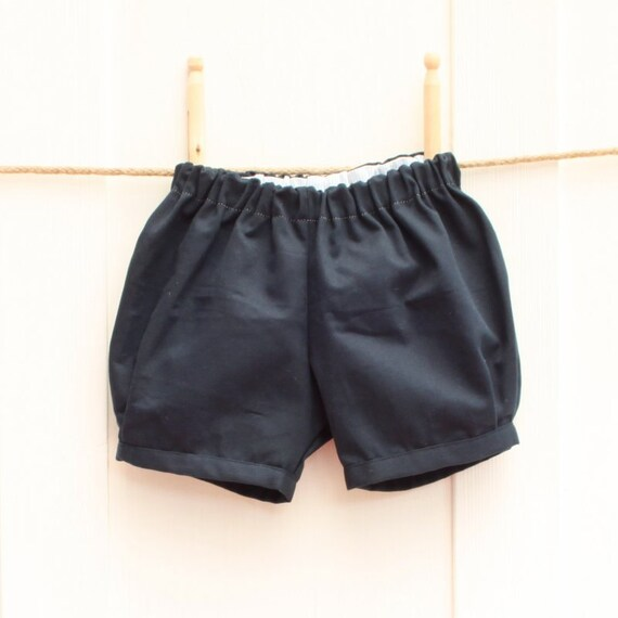 Bloomer shorts | baby and toddler boys | Navy blue
