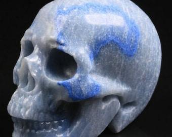 Blue Aventurine Carved Skull  #039