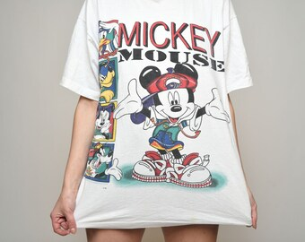 Rare Vintage Shirt illimité Hip Hop Mickey par Jerry Leigh One Size Fits All