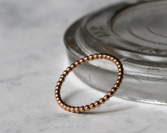 Dotted Stacking or Midi Ring - Rose Gold Fill - Skinny | Stackable ring | Petite ring | bubble stacking ring | Thin rings | | mother's day